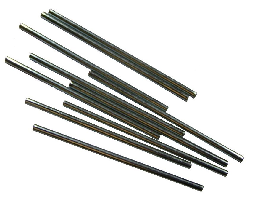 75mm Long X 10 Steel 3mm Mechanical Shafts for Mini Motor Cog and Gearbox